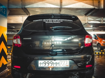 Спойлер №1 «KART RS NEW»  для Рено Сандеро Степвей NEW / Сандеро NEW
