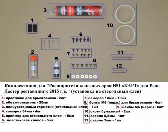 Комплект Расширители колесных арок №1